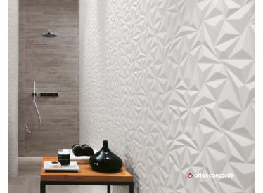 Faianta 3D Angle White Matt 40x80 cm 3 - Liv Art