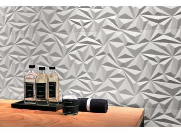 Faianta 3D Angle White Matt 40x80 cm 4 - Liv Art