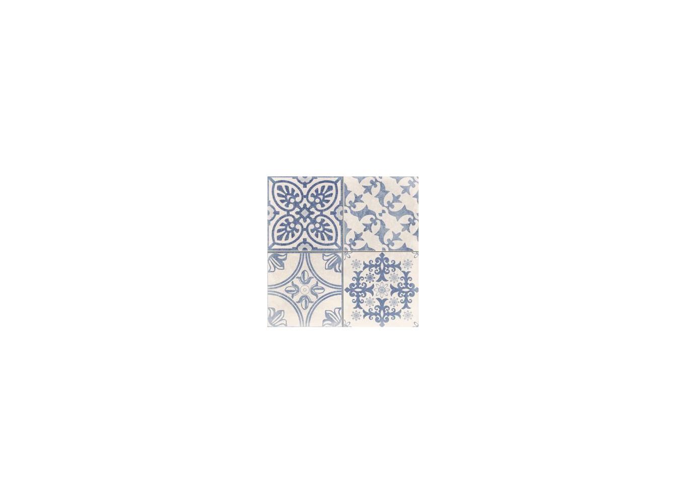 Gresie / Faianta Portelanata Skyros Deco Blanco 44x44 cm 1 - Liv Art